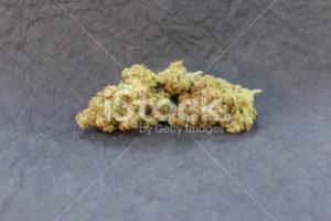 Marijuana bud featured on a black background