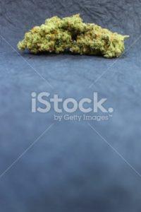 Marijuana displayed against a black background vertical